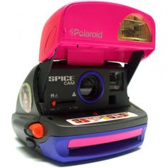 Máquina fotográfica instantanêa clássica analógica vintage Polaroid SpiceCam (1996)
