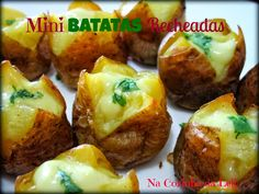 Mini Batatas Recheadas (Vegana)