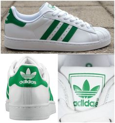 Adidas Superstar II /Green Stripes/ #Originals #Green
