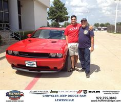 Congratulations to Jose Cantu on your #Dodge #Challenger purchase from Hamed Awadi at Huffines Chrysler Jeep Dodge Ram Lewisville! #NewCar