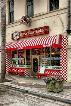 Busy Bee Cafe, Main St., Ventura, California by Jill Odice.  Reuben, I hear a reuben sandwich on sourdough calling me .....