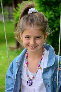 ** Eine super süße Kuh, Eulen oder Eis Kinderkette für Kinder, welche mit kunterbunten Perlen, Eis und Sternen geschmückt ist. Eine wunderschöne Ke...