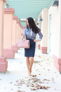 Stylish Petite | Fashion, Reviews and Petite Style: Double Dots and Layers