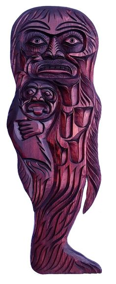 Sasquatch Plaque by Jackson Robertson Bigfoot Sasquatch, Cryptozoology, First Nations, Artworks, Jackson, Lion Sculpture, Statue, Jackson Family, Sculptures