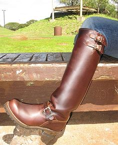 Leather Over The Knee Boots, Tall Leather Boots, Tall Boots, Leather Men, Jeans And Boots, Shoe Boots, Men's Boots, Mens High Boots, Mens Riding Boots