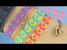 DIY Heart Friendship Bracelets - YouTube