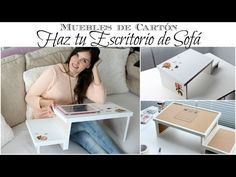 Muebles de Cartón | Como hacer un Escritorio de Sofá de Cartón :: Cardboard Furniture | How to Make a Cardboard Couch Desk [in Spanish]