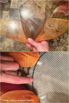 Making a deco mesh flower wreath has never been so easy! Michelle from A Noble Touch shares a step by step tutorial for this gorgeous Fall flower wreath Sunflower Burlap Wreaths, Mesh Ribbon Wreaths, Fall Mesh Wreaths, Fall Deco Mesh, Christmas Mesh Wreaths, Burlap Flowers, Deco Mesh Wreaths, Spring Wreaths, Tulle Wreath