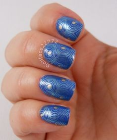 My blue mani for World Diabetes Day