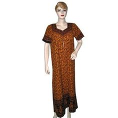 Bohemian Kaftans Resort Wear Rusty Orange Womens Cotton Caftans (Apparel)  http://www.picter.org/?p=B005GD9VVU