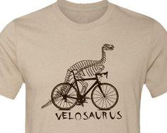 Biciclette saurus T-Shirt-VELO dinosauro, bici da strada T-shirt, divertente biciclette T-shirt, T-shirt in escursioni in bicicletta, Bike, Velo francese, ciclismo regalo