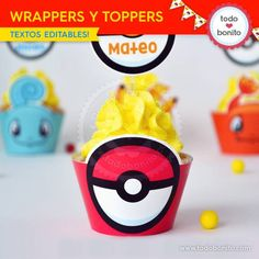 Pokémon: wrappers y toppers