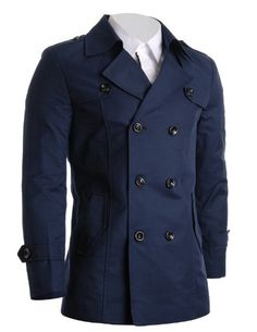 FLATSEVEN Mens Slim Fit Designer Casual Trench Coat Navy, Size M (Chest 40) FLATSEVEN http://www.amazon.com/dp/B00C3UGRMA/ref=cm_sw_r_pi_dp_xFPrub1BF282A