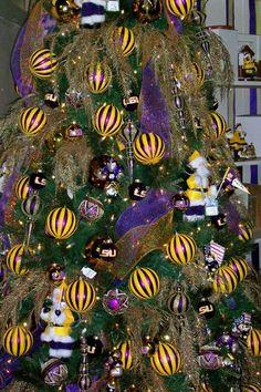 Geaux Christmas tree: an LSU Christmas tree.