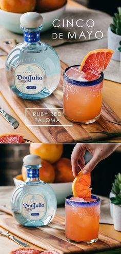 Friends. Food. Palomas. Start your new Cinco de Mayo tradition with Don Julio. To make your own Ruby Red Paloma, combine 1.5 oz Tequila Don Julio Blanco, 2 ¾ oz fresh ruby red pink grapefruit juice and ½ oz agave syrup into a cocktail shaker with ice. Shake well.  Strain contents into highball glass over fresh ice. Top with soda water. Garnish with ruby red pink grapefruit and salt. Picture by: @shannonshootscocktails