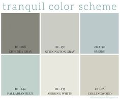 Full home color scheme - calming colors are so popular right now in home decor. CLICK Image for full details Full home color scheme - calming colors are so popular right now in home decor. Benjamin Moore has some grea.