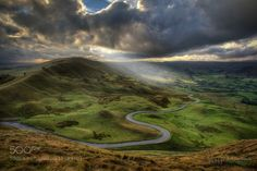 Snake Pass by Antony-Burch  Antony Burch Derbyshire Landscape Mam Tor National Park Peak District UK Snake Pass Antony-Burch