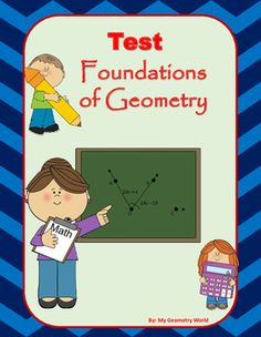 Students will test their knowledge over learned concepts of Foundations of Geometry including points, lines, planes, coplanar points, collinear points, parallel lines, perpendicular lines, skew lines, segment addition postulate, angle addition postulate, vertical angles, adjacent angles, linear pair, complementary angles, supplementary angles, segment bisectors, angle bisectors.  This test will give students an idea of what concepts they have mastered.