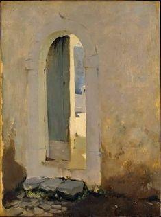 John Singer Sargent, Open Doorway, Morocco,1879-80.