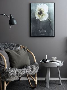 Living Room : Beautiful dark colored walls via cocolapinedesign.com