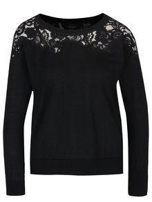 Černý svetr s krajkovými detaily ONLY Maia-1100
