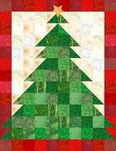 Christmas Tree Quilt Pattern Now Available - Lyn Brown's Quilting Blog