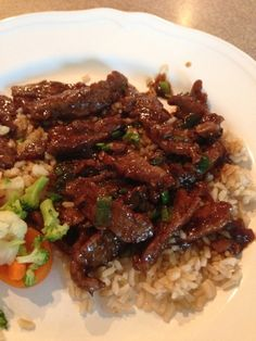 Easy Mongolian Beef Recipe need to add more veg, carrots, chestnuts, etc. use a little less sugar and add red pepper flakes.