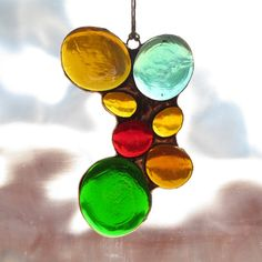 Stained Glass Abstract Suncatcher 1549 by paintedlightglass, $18.00