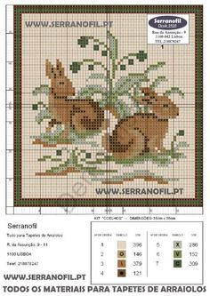 tapeçaria: gráficos Arraiolos de animais