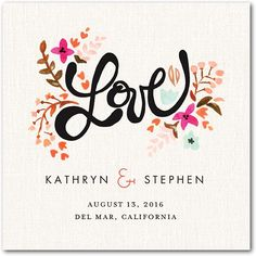 """Just Lovely"" coaster by Wedding Paper Divas."