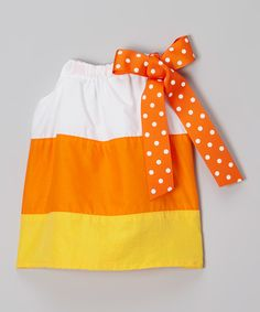 This Yellow & Orange Pillowcase Dress - Infant & Toddler by Caught Ya Lookin' is perfect! #zulilyfinds