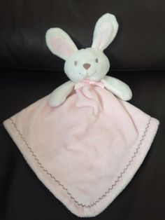 Blankets and beyond pink & #white bunny rabbit baby #comforter #blanket blankie,  View more on the LINK: 	http://www.zeppy.io/product/gb/2/201459363305/
