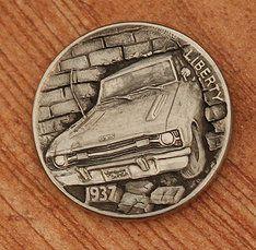 Hobo Nickel Car/Brick Wall by Aleksey Saburov