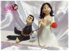 Topo de casamento Noivo Arrastado