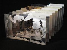 Vanishing Point, A Tunnel Book via Etsy Love this idea Altered Books, Altered Art, Paper Art, Paper Crafts, Origami, Paper Engineering, Vanishing Point, Book Sculpture, Book Images