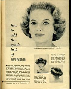 Beauty is a thing of the past: 1950's  Hair setting patterns