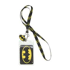 DC Comics Batman Skinny Lanyard | Hot Topic (6.92 CAD) ❤ liked on Polyvore featuring accessories