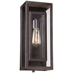 """Possini Euro Double Box 15 1/2""""-H Bronze Outdoor Light"""