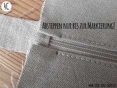 Tutorial: Sewing the zipper without knobs on the edge {part .- Tutorial: Reißverschluß einnähen ohne Knubbel am Rand {Teil (Stich und Faden – DIY, Nähen, Embird, Stickdatei Tutorial: Sew on the zipper without knobs on the edge {part Sewing Hacks, Sewing Tutorials, Sewing Patterns, Tutorial Sewing, Sewing Tips, Fabric Crafts, Sewing Crafts, Sewing Projects, Techniques Couture