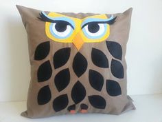 Majestic Owl-Felt Pillow - Decorative pillow- First-Quality Materials- Handmade on Etsy, $49.00