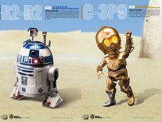 Egg Attack Action #008 & 9 Star Wars Episode V R2-D2 & C-3PO Combo Set - Star Wars Japanese Items Egg Attack