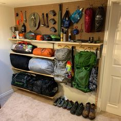 A helpful community that aims to help users make informed decisions about camping gear including sleeping systems, clothing, cooksets, and. Garage Organization, Garage Storage, Camping Storage, Camping Gear, Backpacking Gear, Camping Hacks, Minivan Camping, Bushcraft Camping, Camping Tools