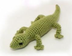 Gecko (lizard) amigurumi crochet pattern