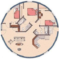 Residential Feasibility Study round/circular exterior home. Round House Plans, Tiny House Plans, House Floor Plans, Monolithic Dome Homes, Geodesic Dome Homes, Earthship, Yurt Home, Silo House, Dome House