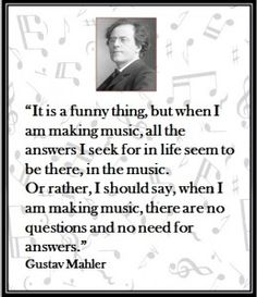A wonderful quote from Mahler!  http://www.facebook.com/MusicTeacherResources4U