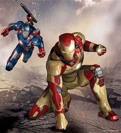 The new armors of IRON MAN 3