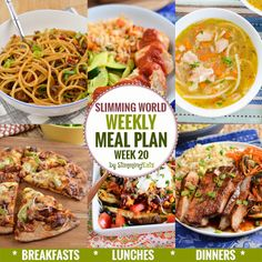 Slimming Eats Weekly Meal Plan - Week 20 - Slimming World recipes - taking all t. - Slimming world recipes - Extra Easy Slimming World, Slimming World Lunch Ideas, Slimming World Breakfast, Slimming World Recipes Syn Free, Slimming World Diet, Slimming Eats, Healthy Meals For Two, Healthy Eating Recipes, Healthy Meal Prep
