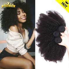 Find More Human Hair Extensions Information about 7A Peruvian Kinky Curly Virgin…