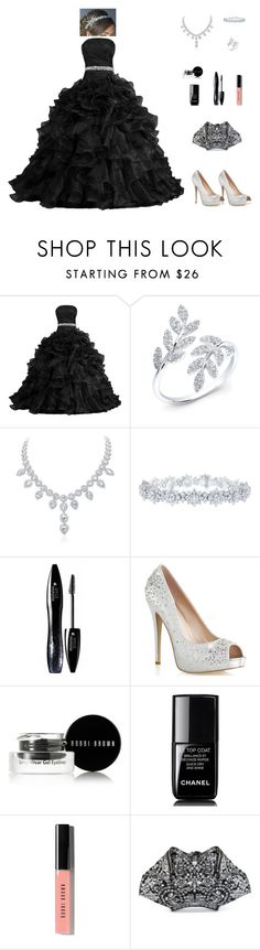 """Contest: Beautiful Black Gown Outfit"" by billsacred ❤ liked on Polyvore featuring Harry Winston, Lancôme, Bobbi Brown Cosmetics, Chanel, Alexander McQueen, black, Gowns, blackgowns, beautifulgowns and BeautifulBlackGowns"