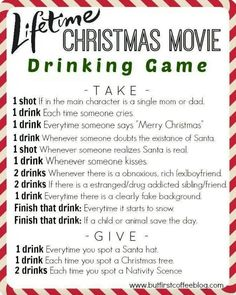Christmas drinking game xD